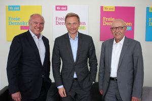 Foto: Ulrich Schneider, Christian Lindner, Rolf Rosenbrock (v.l.n.r.)