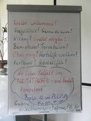 Abbildung: Flipchart zur Begrüßung im Sensibilisierungsseminar
