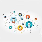 Darstellung eines sozialen Netzwerks