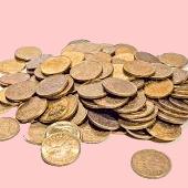 Abbildung: verschiedene Geldmünzen