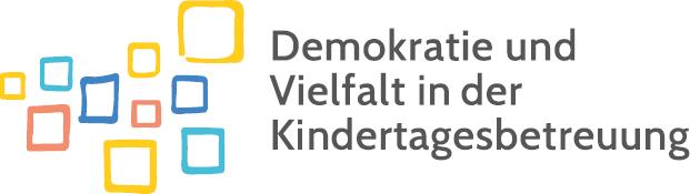"""Das Logo des Projekts """"Demokratie und Vielfalt in der Kindertagesbetreuung""""."""